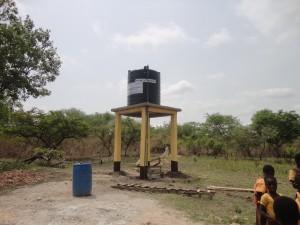 Het waterreservoir.